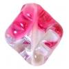 Glass Lamp Bead 16x14mm Amethyst/Pink Twister